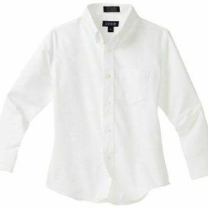 Izod Boys Long Sleeve Solid Button-Down Solid